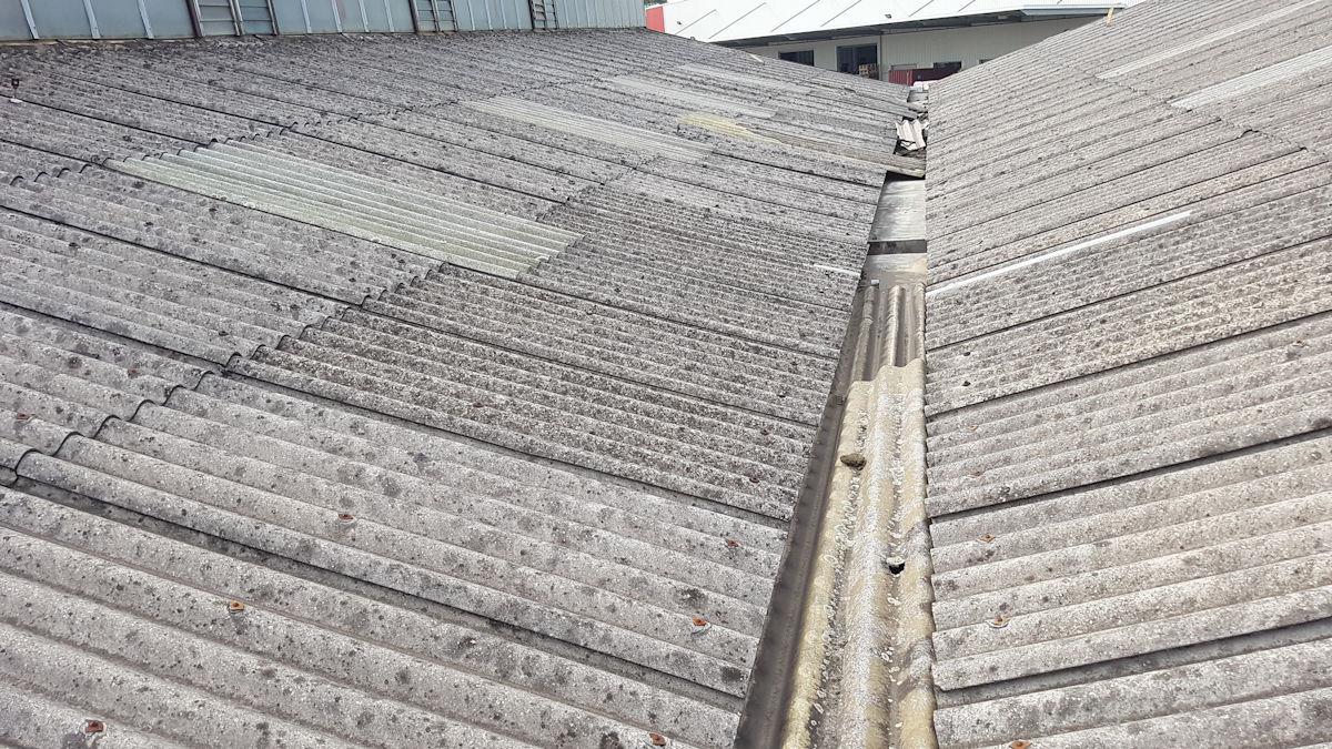 asbestos cement super six roof