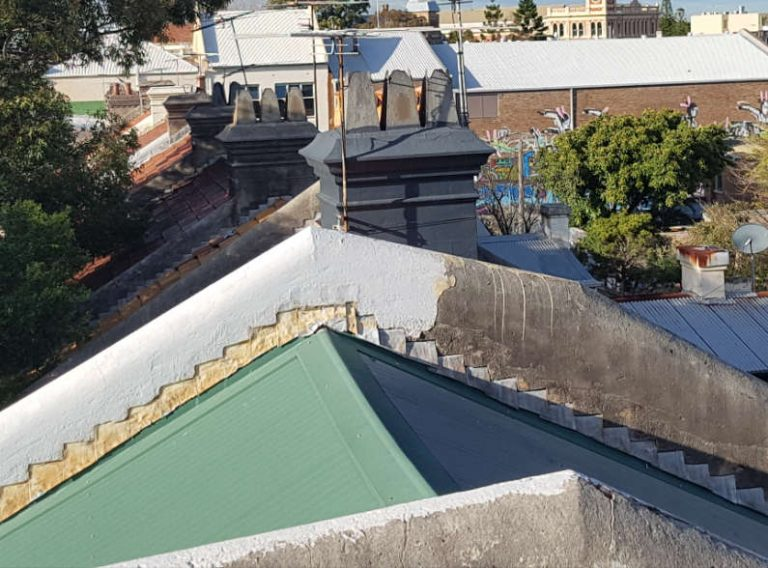 roof repairs on chimneys and parapets inner west Sydney