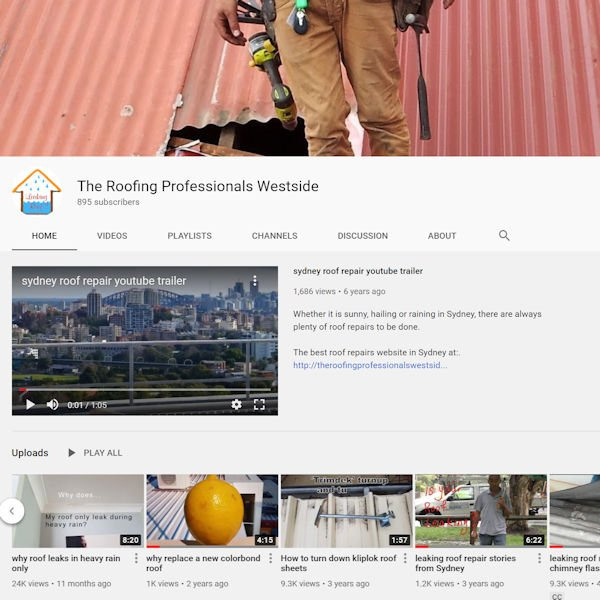 The Roofing Professionals westside YouTube channel