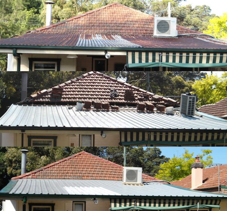 Rusty roof replacement by colorbond