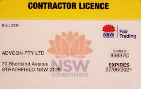 Building Licence used by The Roofing Professionals Westside