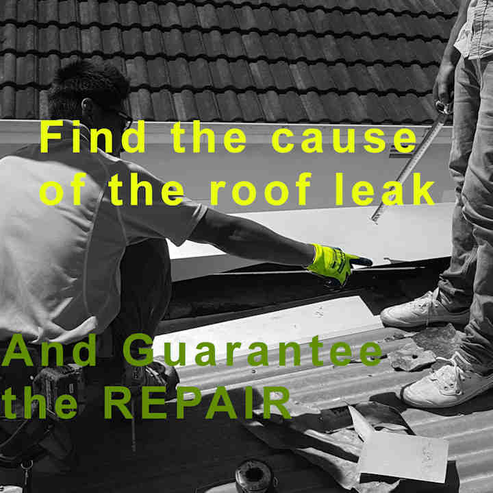 find the cause of the roof leak