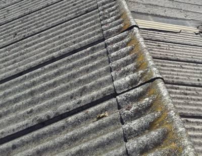 Super six asbestos roof