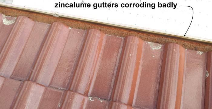 bad corrosion on zincalume gutter