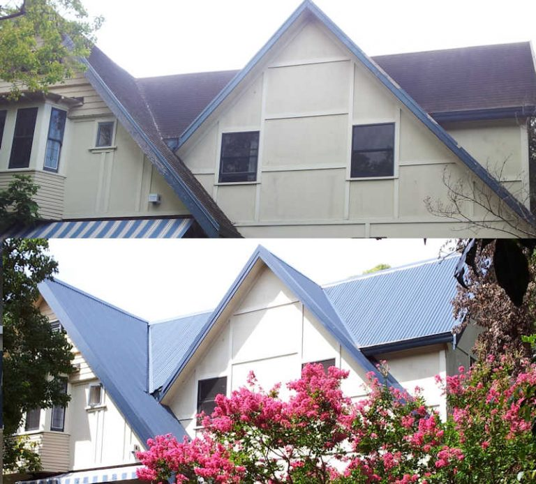 Steep roof replacement in Sydney