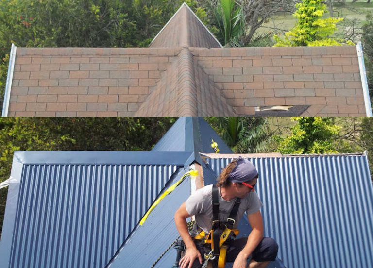 Steep Roof replacement over tiles in Sydney