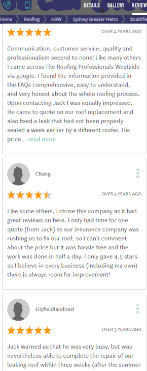 review on sydney roofers